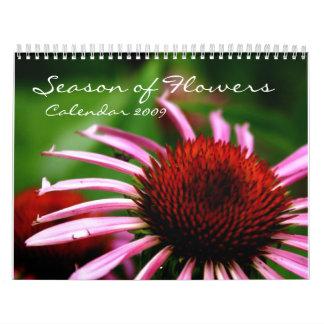 Season of Flowers, Calendar 2009