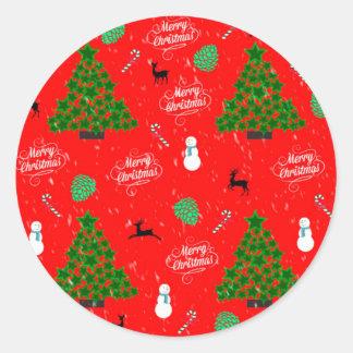 Season of Greetings Classic Round Sticker