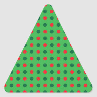 Season of Greetings small dots Triangle Sticker