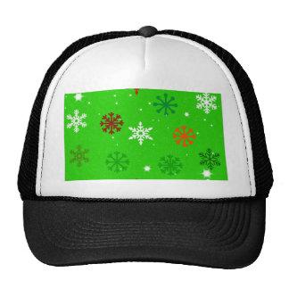 Season of Greetings Snowflakes Mesh Hat