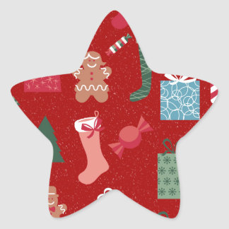 Season of Greetings Toys and Biscuits Star Sticker