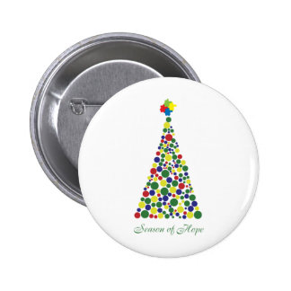 Season of Hope - Autism Awareness Pinback Button