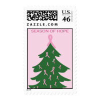 Season of Hope - Support Breast Cancer Research Postage Stamps