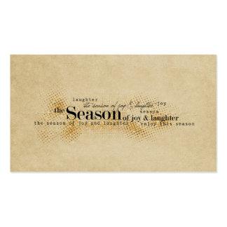 Season of Joy Gold Wordart Business Card Template