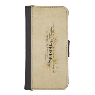 Season of Joy Gold Wordart iPhone SE/5/5s Wallet Case