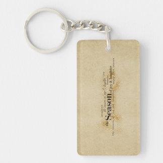 Season of Joy Gold Wordart Keychain