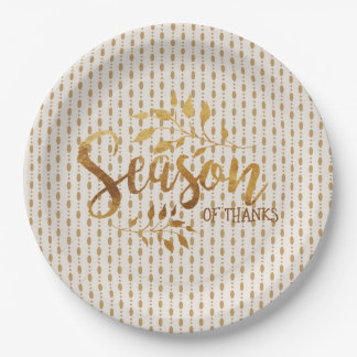 Season of Thanks Gold - Paper plate
