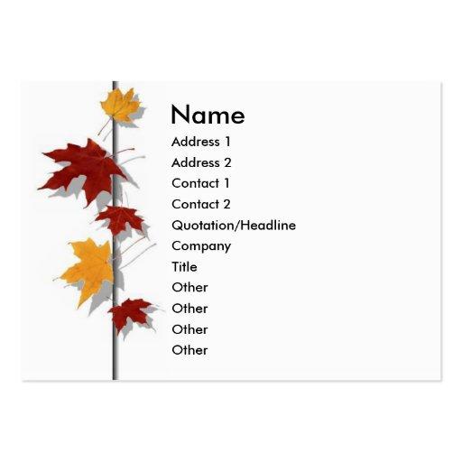 Season Profile Card Business Card