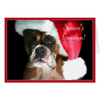 Season s Greetings Boxer dog greeting card