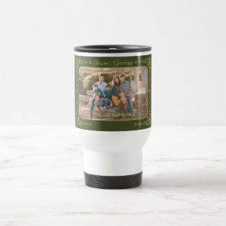Season's Greetings Custom Photo & Name mugs