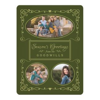 Season's Greetings Custom Photos & Name card