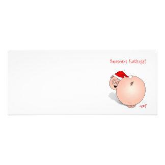 Season s Greetings Eatings Pig Cartoon Custom Invitations