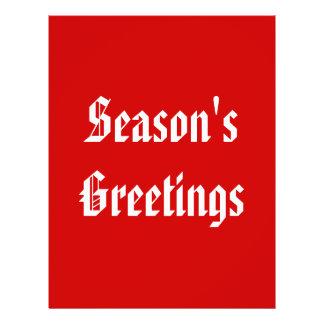 Season s Greetings Festive Red and White Custom Flyer
