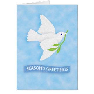Season's Greetings Peace Dove holiday card