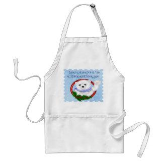Season s Greetings Polar Bear Apron
