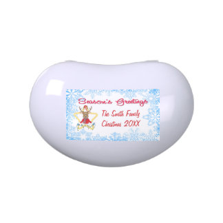 Season s Greetings Reindeer Jelly Bean Candy Tin