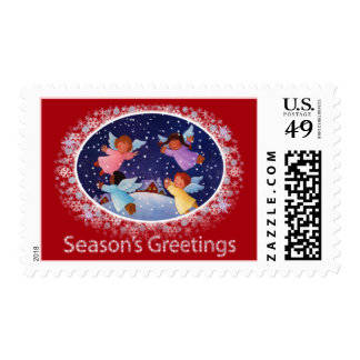 Season's Greetings Stamp Red