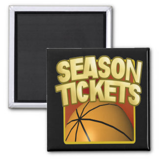 Season Tickets 2 Inch Square Magnet