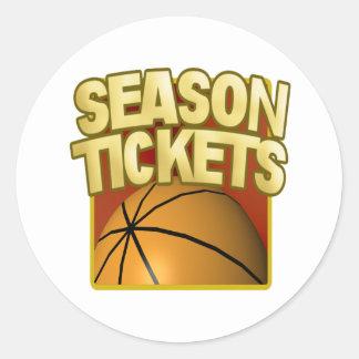 Season Tickets Classic Round Sticker