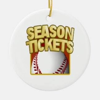 Season Tickets Double-Sided Ceramic Round Christmas Ornament