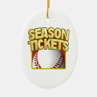 Season Tickets Double-Sided Oval Ceramic Christmas Ornament