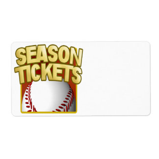 Season Tickets Shipping Labels