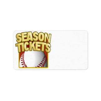 Season Tickets Personalized Address Labels
