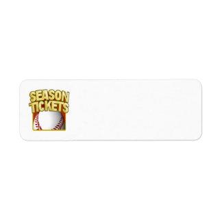 Season Tickets Return Address Labels