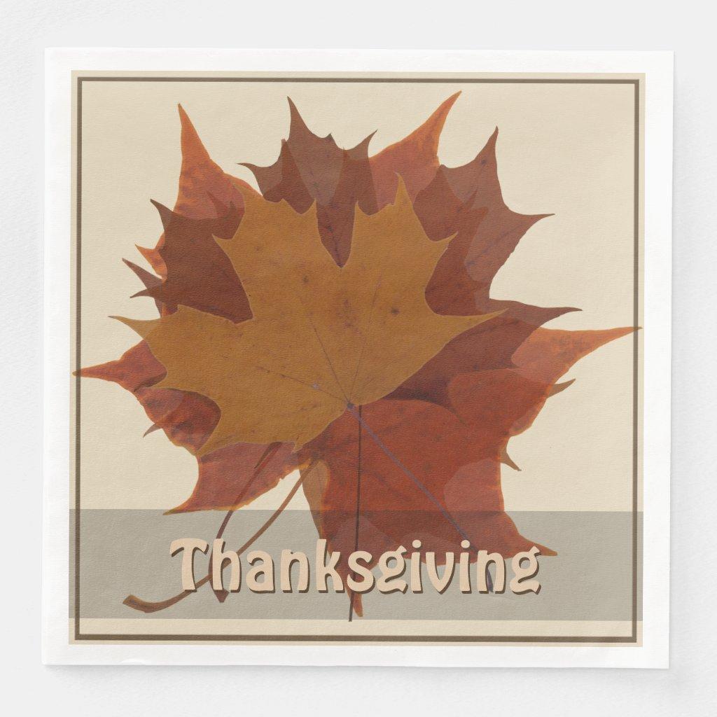 Seasonal Autumn Leaves Thanksgiving