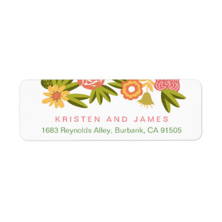 Seasonal Botanical Blooming Flowers RSVP Label
