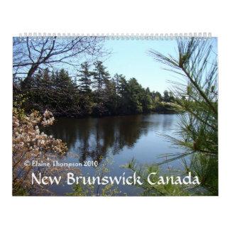 Seasonal Calendar, New Brunswick, Canada Calendar