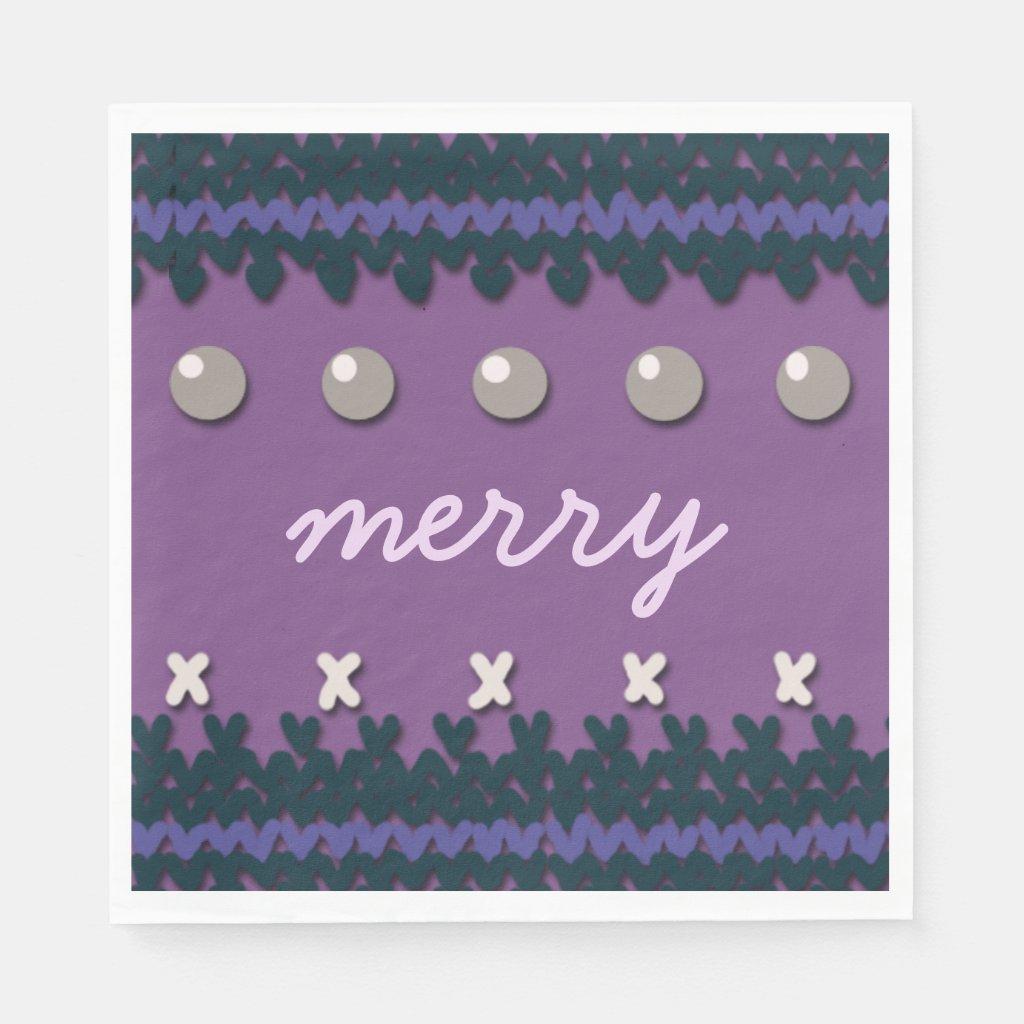 Seasonal Christmas Knitted Decor with Custom Text