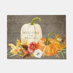 Pumpkin Doormats Amp Welcome Mats Zazzle
