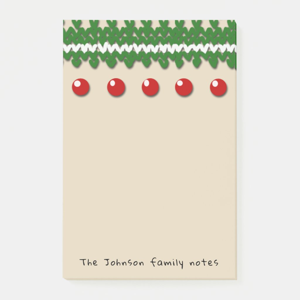 Seasonal Family Notes with Custom Text and Color