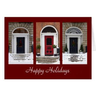 Seasonal Georgian Doors Greeting Card