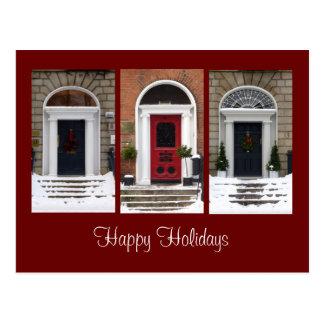 Seasonal Georgian Doors Postcard