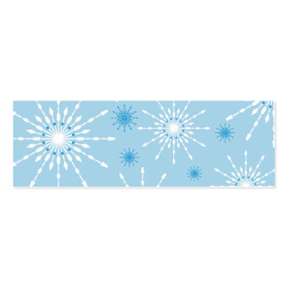 SEASONAL GIFT TAG :: patterned snowflake L5 Double-Sided Mini Business Cards (Pack Of 20)