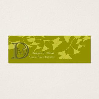 Seasonal  Ginkgo Tree  Branch Pattern Mini Business Card