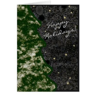 Seasonal Granite Rock Texture Green Happy Holidays
