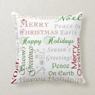 Seasonal Greetings Pillow