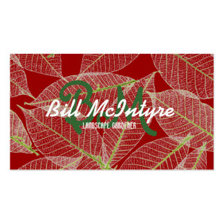 Seasonal leaves garden landscape Double-Sided standard business cards (Pack of 100)