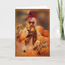 Seasonal Message for Fall; Halloween;Thanksgiving Holiday Card