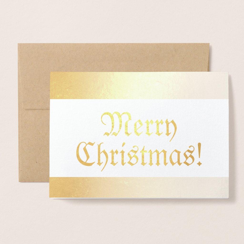 Seasonal Old Fashioned Shiny Merry Christmas