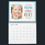 """Seasonal Quotes Modern Photo Calendar<br><div class=""""desc"""">Personalize each page with your photos and create a one-of-a-kind calendar as a gift for yourself or someone else! More designs are available at our store: www.berryberrysweet.com</div>"""