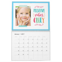 Seasonal Quotes Modern Photo Calendar