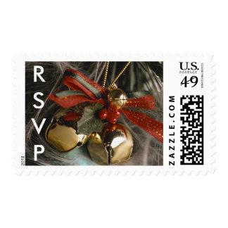 Seasonal RSVP Christmas Wedding Holidays Postage Stamp