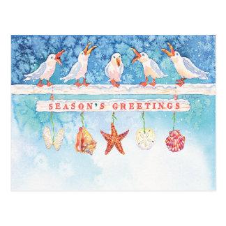 Seasonal Seagulls Postcard