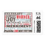 Seasonal Sentiments Postage Stamps