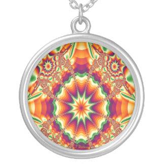 Seasonal shades round pendant necklace