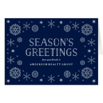 Seasonal Snowflakes Corporate Holiday Card